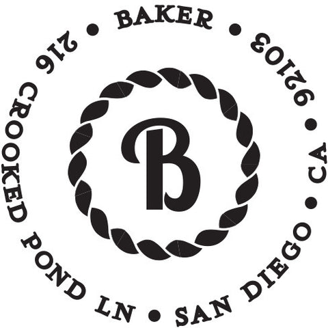 Baker Personalized Self-Inking Stamp