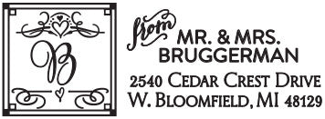 Bruggerman Personalized Rectangular Stamp