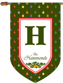 Personalized Christmas Polka Dot House Flag