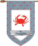 Personalized Crab Dot House Flag