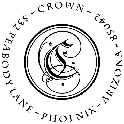 Crown Personalized Self-Inking Stamp