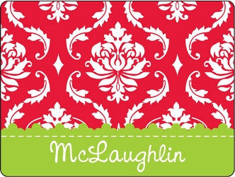 Red / Green Damask Cutting Board