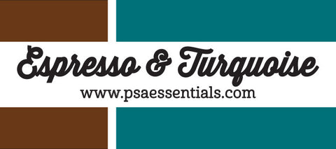 Espresso and Turquoise Rectangular Stamp Cartridge Refill