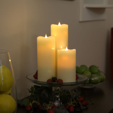 3-D Solare Flameless Candles