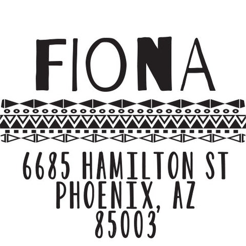 Fiona Personalized Self-Inking Stamp