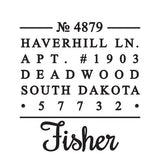 Fisher Personalized Self-Inking Stamp
