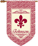 Burgundy Fluer De Lis House Flag-2