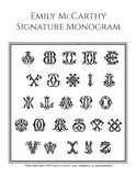 Signature Monogram Personalized Self-Inking Stamp by Emily McCarthy