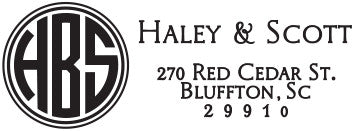 Haley Personalized Rectangular Stamp