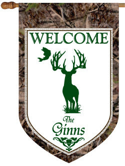 Personalized Hunter Camo House Flag