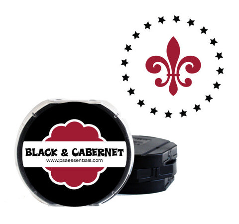 Black and Cabernet Self-Inking Stamp Cartridge Refill
