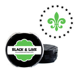 Black and Lime Self-Inking Stamp Cartridge Refill