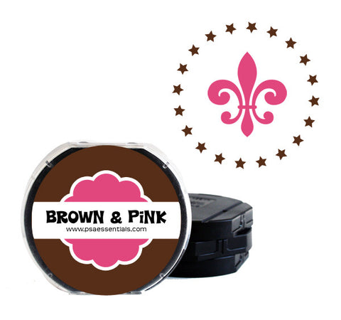 Brown and Pink Self-Inking Stamp Cartridge Refill