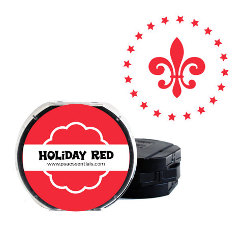 Holiday Red Self-Inking Stamp Cartridge Refill