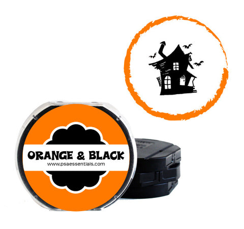 Orange and Black Self-Inking Stamp Cartridge Refill