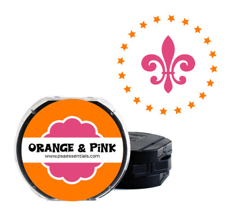 Orange and Pink Self-Inking Stamp Cartridge Refill