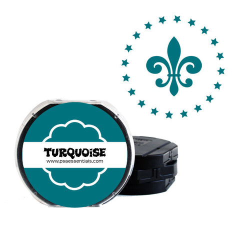 Turquoise Self-Inking Stamp Cartridge Refill
