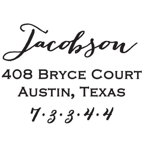 Jacobson Personalized Self-Inking Stamp