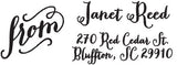 Janet Personalized Rectangular Stamp