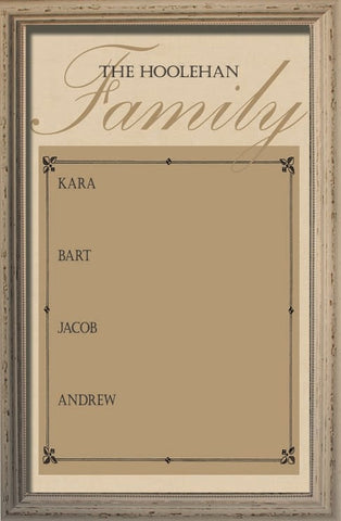Custom Family Member Magnetic Board