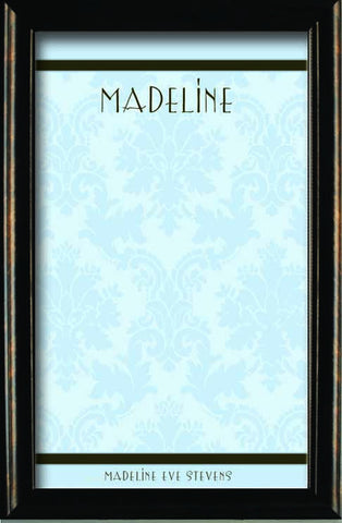 Custom Blue Damask Magnetic Board