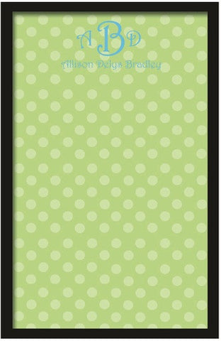 Custom Mini Green Polka Dot Magnetic Board