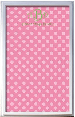 Custom Pink Polka Dot Magnetic Board