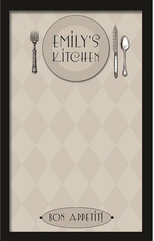 Custom Bon Appetit Magnetic Board