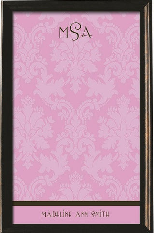 Custom Pink Damask Magnetic Board