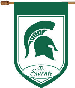 Michigan State Personalized College House Flag