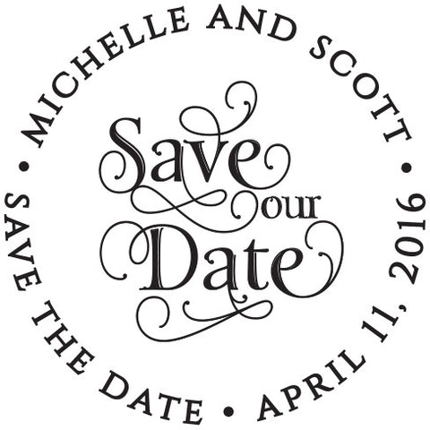 Save the Date Personalized Self-Inking Stamp