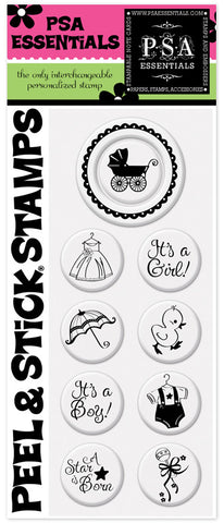 Carriage Peel & Stick Stamp Pack
