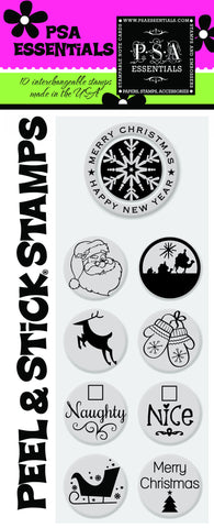 Merry Christmas Peel & Stick Stamp Pack