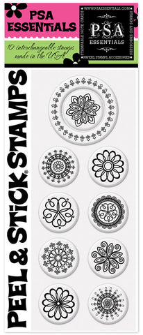 Rosettas Peel & Stick Stamp Pack