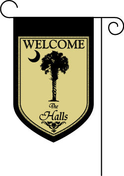 Welcome Palmetto Garden Flag-Black