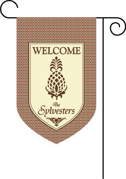 Welcome Pineapple Garden Flag-Argyle