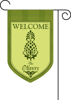 Welcome Pineapple Garden Flag-Plaid
