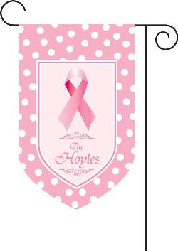 Pink Ribbon Garden Flag