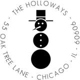 Retro Snowman Personalized Self-Inking Stamp