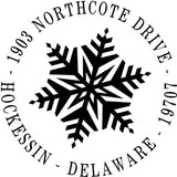 Snowflake Personalized Self-Inking Stamp
