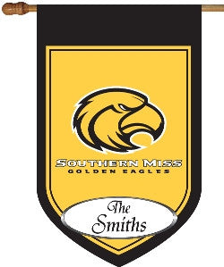 Southern Miss Personalized House Flag