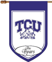 TCU Personalized House Flag