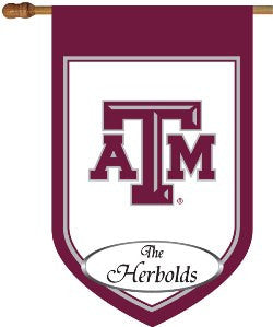 Texas A&M Personalized House Flag