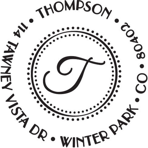 Thompson Personalized Self-Inking Stamp