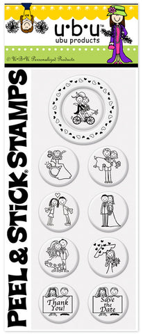 UBU™ Bicycle Bride PSA Peel and Stick  Stamp Pack