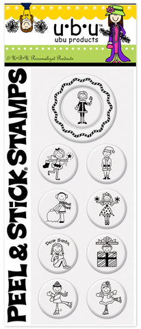 UBU™ Ms Claus PSA Peel and Stick Stamp Pack