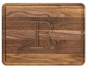 Wiltshire Walnut Monogram Cutting Board