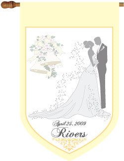 Personalized Wedding Flag