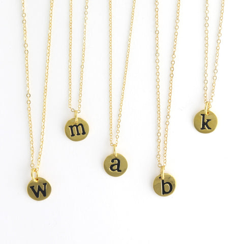 Petite Single Initial Necklaces