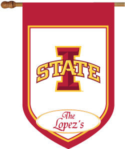 Iowa State Personalized House Flag